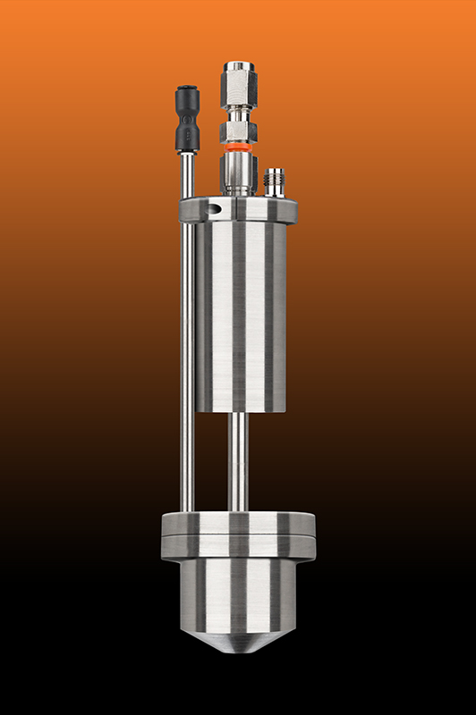 High Temperature Spray Nozzle with Spray Shaper